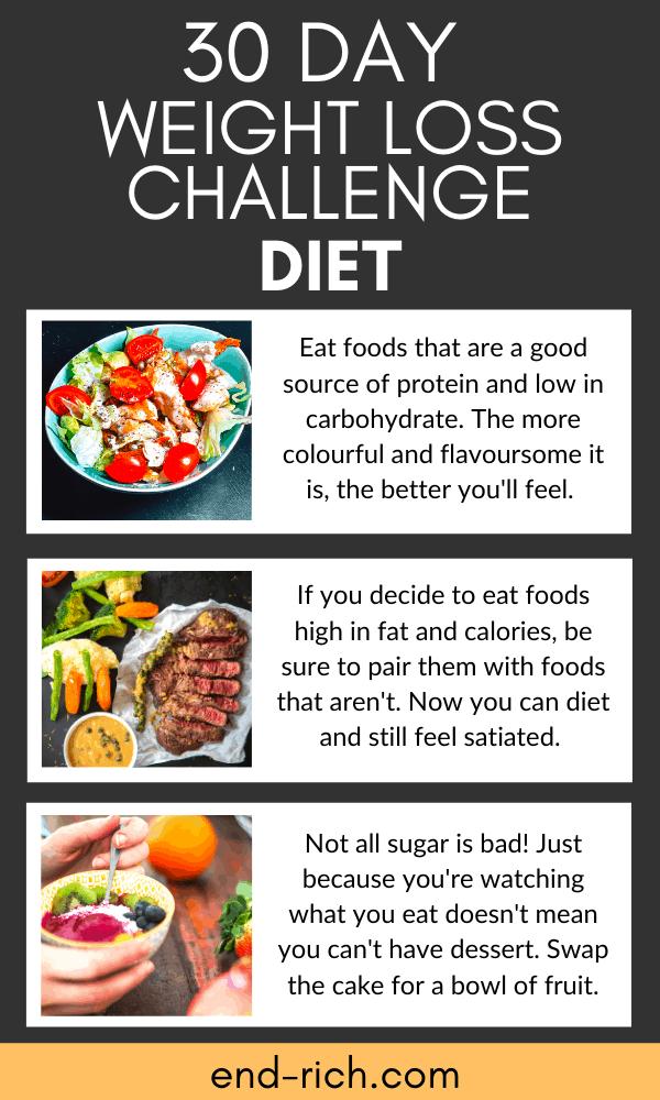 30 day weight loss challenge diet