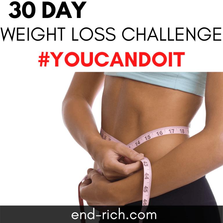 30 day weight loss challenge #youcandoit